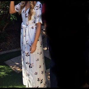 Tobi floral wrap dress